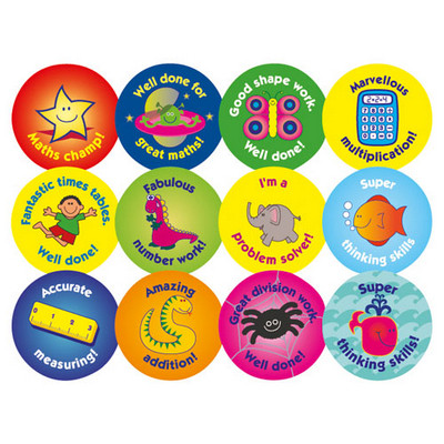 Curriculum Stickers Numeracy Assorted Pack 120