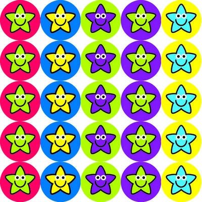 10Mm Star Stickers Pack 825