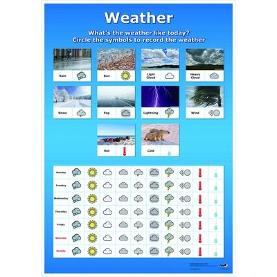 A2 Wipeable Weather Chart Each