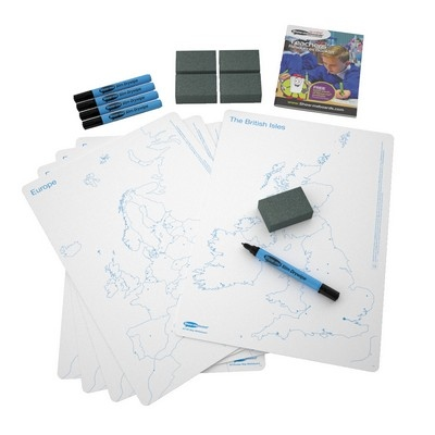 A3 Double-Sided Uk Europe Map Whiteboards