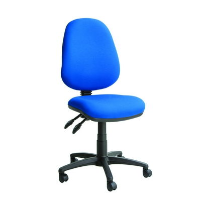 High Back Operator Chair With Height Adjustable And Folding Arms - Camira Mainline And Extreme Plus Colours Available