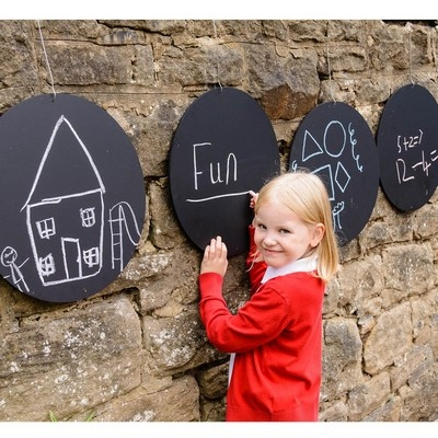 Circular Chalkboards Pack Of 4