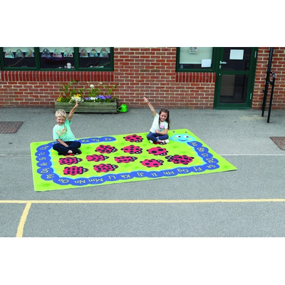 Back To Nature Outdoor Mat Caterpillar Numeracy & Literacy Each